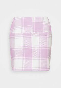 Missguided Petite - CHECK SKIRT - Minirock - pink