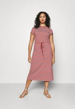 ONLY Carmakoma - CARAPRIL LIFE STRING DRESS - Jerseykleid - apple butter/cloud
