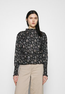 Even&Odd - PRINTED BLOUSE - Bluse - black