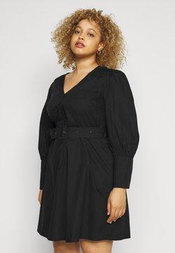 Pieces Curve - PCSEBORAH DRESS - Freizeitkleid - black