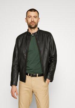 Selected Homme - SLHICONIC RACER - Leren jas - black