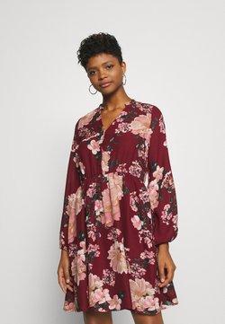 Vero Moda - VMSUNILLA DRESS  - Freizeitkleid - cabernet/sunilla