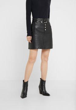 The Kooples - JUPE - Mini skirt - black