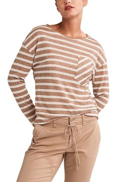 comma casual identity - Langarmshirt - brown stripes