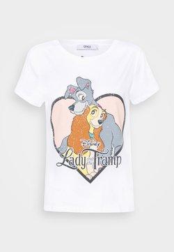 ONLY Petite - ONLLADYTRAMP - Camiseta estampada - white