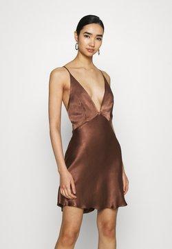 Bec & Bridge - VALENTINA MINI DRESS - Vestido de cóctel - chocolate