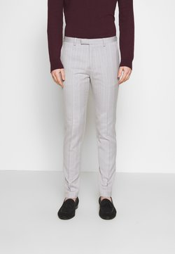 1904 - BONE STRIPE TROUSER SKINNY - Puvunhousut - grey