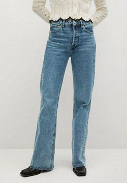 Mango - ARIADNA - Flared Jeans - middenblauw