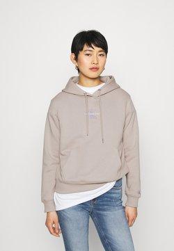 Calvin Klein Jeans - MONOGRAM LOGO - Bluza z kapturem - beige