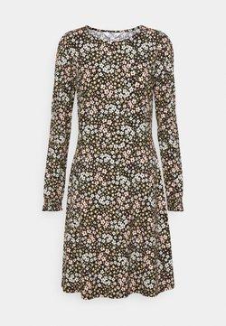 Dorothy Perkins Tall - TALL FLORAL PUFF SLEEVE SUSTAINABLE DRESS - Jerseykleid - multi