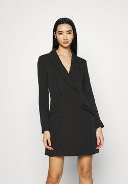 Missguided - BUTTON SIDE BLAZER DRESS - Vestido de tubo - black