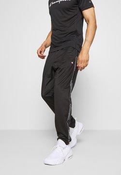Champion - LEGACY TAPE CUFF PANTS - Verryttelyhousut - black