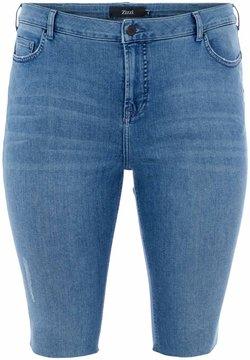 Zizzi - Jeans Shorts - dark blue denim
