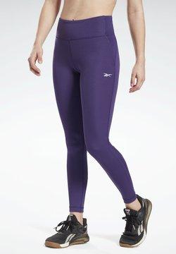 Reebok - LUX SPEEDWICK LEGGINGS - Tights - purple