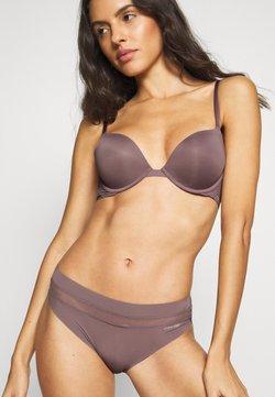 Calvin Klein Underwear - PERFECTLY FIT FLEX PLUNGE - Biustonosz bezszwowy - plum dust