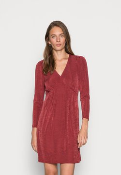 Closet - V NECK DRESS - Sukienka z dżerseju - burgandy