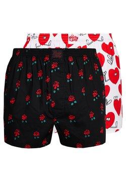 Lousy Livin Underwear - ROSE VALENTINES 2 PACK - Boxershorts - black/white