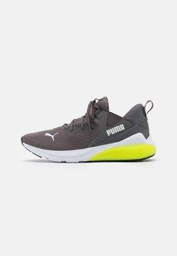 Puma - CELL VIVE - Zapatillas de running neutras - castlerock/soft fluo yellow/white
