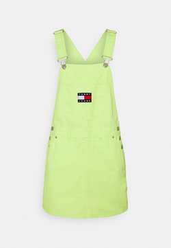 Tommy Jeans - DUNGAREE DRESS - Day dress - faded lime