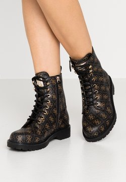Guess - TALISI - Bottines à lacets - brown/ocra
