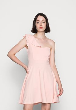 WAL G. - ROSIE A-SYMMETRICAL A-LINE MINI DRESS - Jerseykleid - baby pink