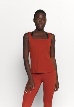 Nike Performance - THE YOGA LUXE TANK - Linne - rugged orange/light sienna