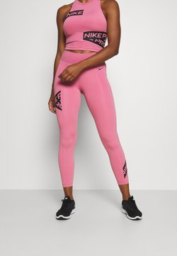 Nike Performance - 7/8 TROMPE  - Tights - desert berry/black
