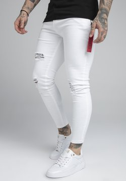 SIKSILK - DISTRESSED FLIGHT - Jeans Skinny - white
