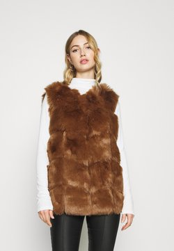 Missguided - GILET - Smanicato - brown