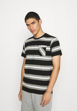 STAPLE PIGEON - STRIPED POCKET TEE UNISEX - T-Shirt print - black