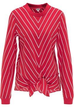 DreiMaster - Bluse - rot weiss
