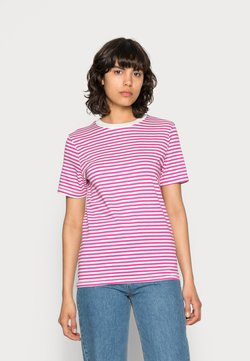 Selected Femme - SLFMY PERFECT SS TEE BOX CUT STR COLOR B - T-Shirt print - rose violet