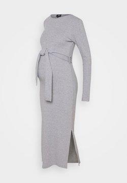 Missguided Maternity - MATERNITY SPLIT SIDE BELTED MIDI DRESS - Vestido ligero - grey