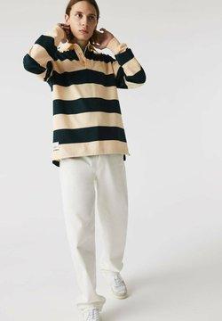 Lacoste - Poloshirt - beige / vert fonce / beige