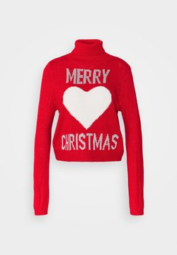 ONLY - ONLXMAS LOVE - Maglione - high risk red