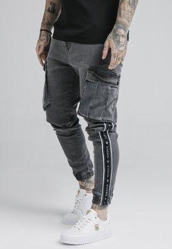 SIKSILK - TAPED CARGO PANTS - Cargo trousers - dark grey