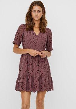 Vero Moda - MINIKLEID WICKEL - Vestito estivo - rose brown