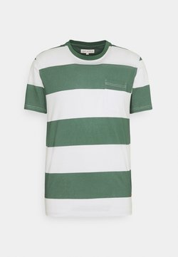 Far Afield - BOLD STRIPE - T-Shirt print - sagebrush green