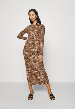 KENDALL + KYLIE - LONG SLEEVE DRESS - Maxi-jurk - black/beige