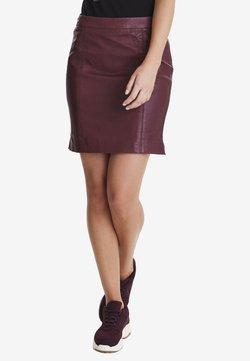 Fransa - FRFALEATHER - Mini skirt - bordeaux