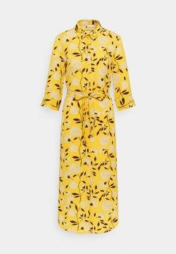 ONLY - ONLNOVA LUX  SHIRT DRESS - Blousejurk - golden yellow/white