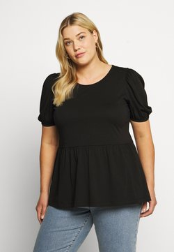 ONLY Carmakoma - CARANNI PUFF - T-Shirt print - black