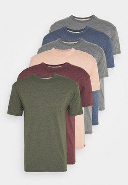 Newport Bay Sailing Club - MULTI TEE MARLS 7 PACK - T-shirt basic - dark blue/dark grey/bordeaux/tan/dark olive