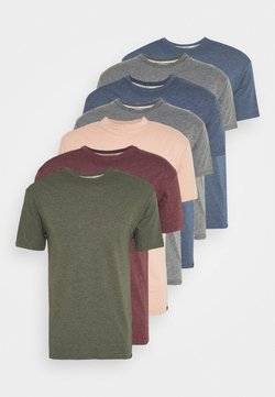 Newport Bay Sailing Club - MULTI TEE MARLS 7 PACK - T-shirts basic - dark blue/dark grey/bordeaux/tan/dark olive