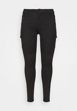 Noisy May Curve - NMLUCY UTILITY PANTS - Cargo trousers - black