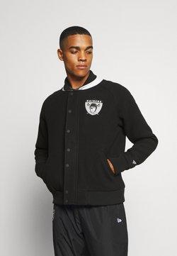 Fanatics - NFL OAKLAND RAIDERS TRUE CLASSICS LETTERMAN JACKET - Club wear - black
