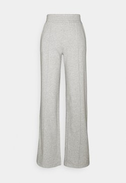 Pieces Petite - PCCHILLI WIDE PANTS - Jogginghose - light grey melange