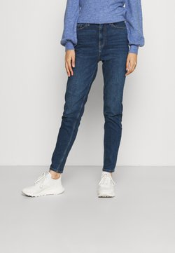 PIECES Tall - PCKESIA MOM  - Jeans relaxed fit - dark blue denim