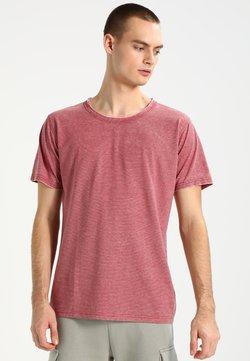 Urban Classics - STRIPE BURN OUT - T-Shirt print - light red