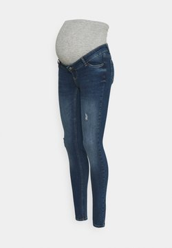 MAMALICIOUS - MLHAMPSHIRE DESTROYED - Jeans Slim Fit - dark blue denim
